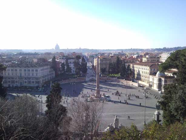 Vista da Piazza del Popolo