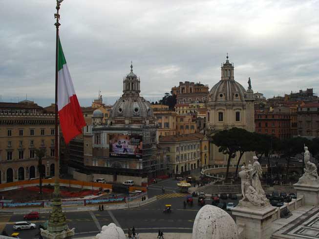 Vista do Palazzio Vittorio Emanuele