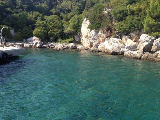 Praia perfeita para o mergulho em Lokrum