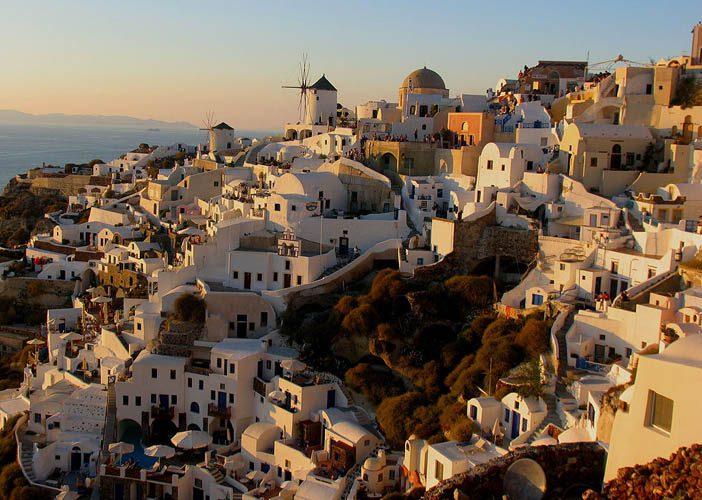 Oia é de longe o lugar mais disputado de Santorini