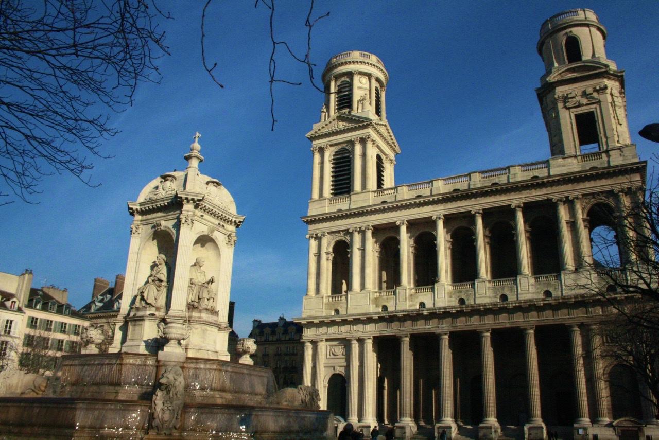 A famosa igreja de St Sulpice, em St Germain