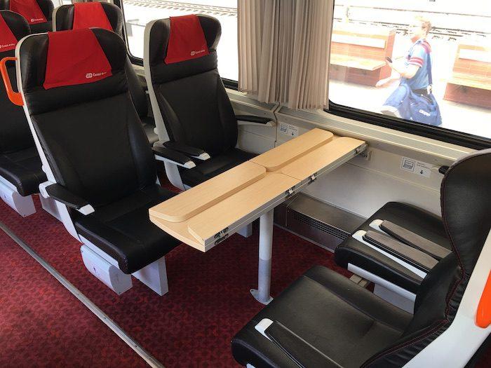 Primeira classe no trem de Praga a Berlim