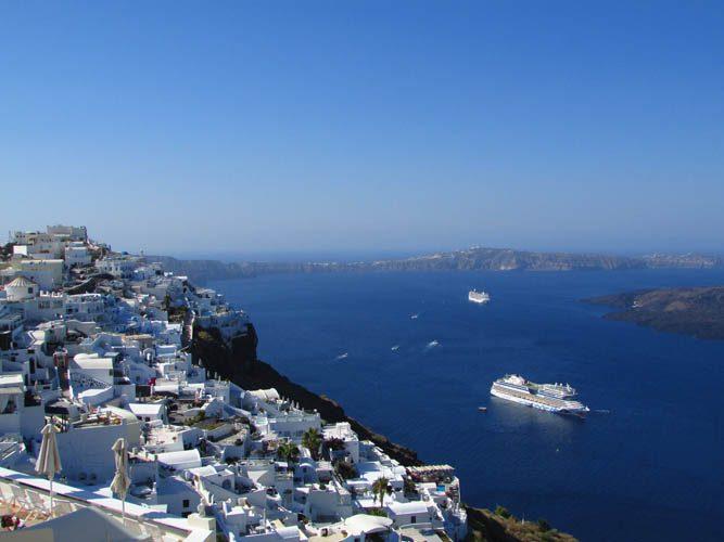 Fira, um dos lugares mais procurados onde ficar em Santorini